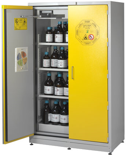 Nice SAFETY CABINET FOR THE STORAGE OF 160 LITERS OF LIQUID AND SOLID FLAMMABLE  PRODUCTS IN COMPLIANCE WITH EN 14470 1, EN 14727 NORMS. FIRE RESISTANCE  U0027TYPE 90u0027 ...